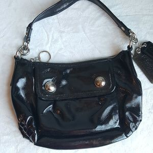 Coach Poppy Patent Leather Shoulder Bag